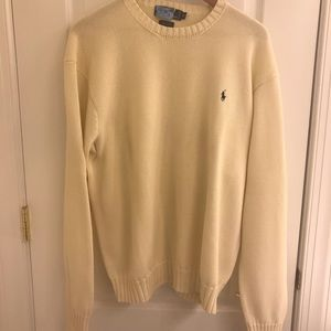 Polo Ralph Lauren Mens Sweater Ivory XL